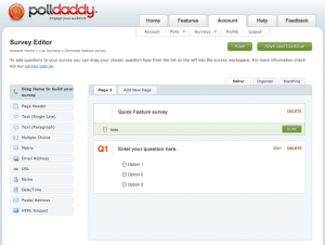 PollDaddy form editor in action