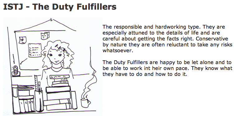 ISTJ - The Duty Fulfillers