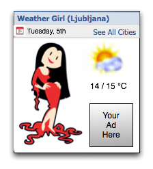 WeatherGirl Facebook mockup
