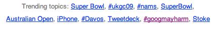 Twitter #googmayharm trending topic