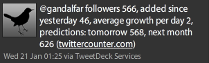 TweetDeck followers counter