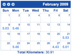 February running log